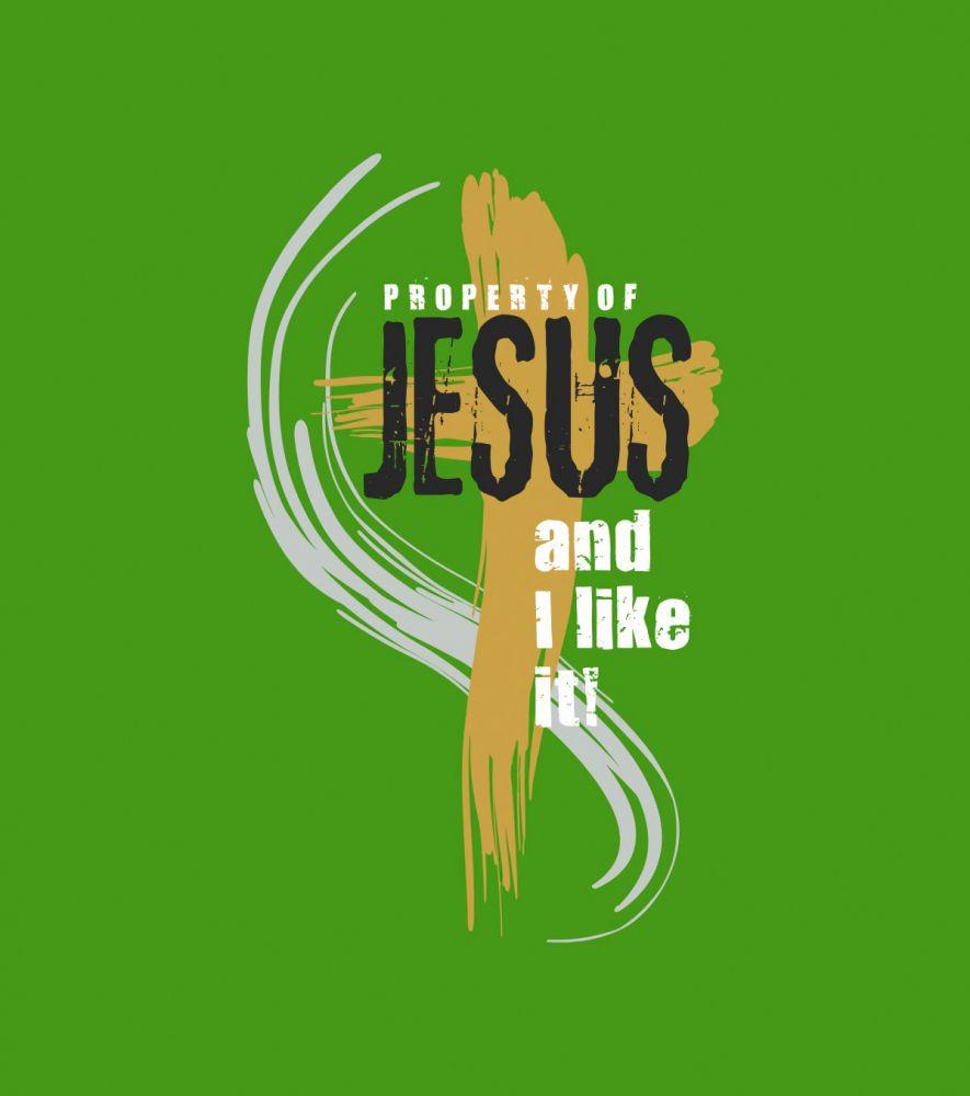 PROPERTY OF JESUS pánské triko zelená
