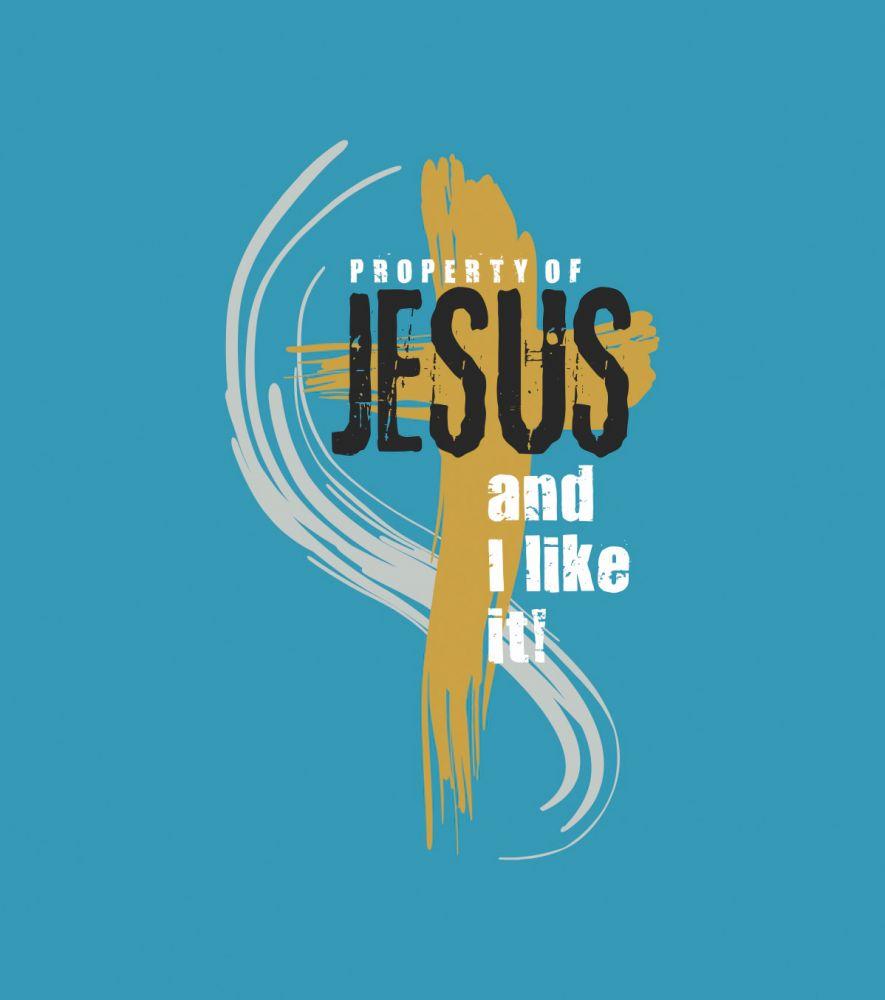 PROPERTY OF JESUS pánské triko tyrkysová