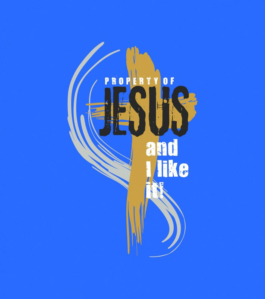 PROPERTY OF JESUS (blue)