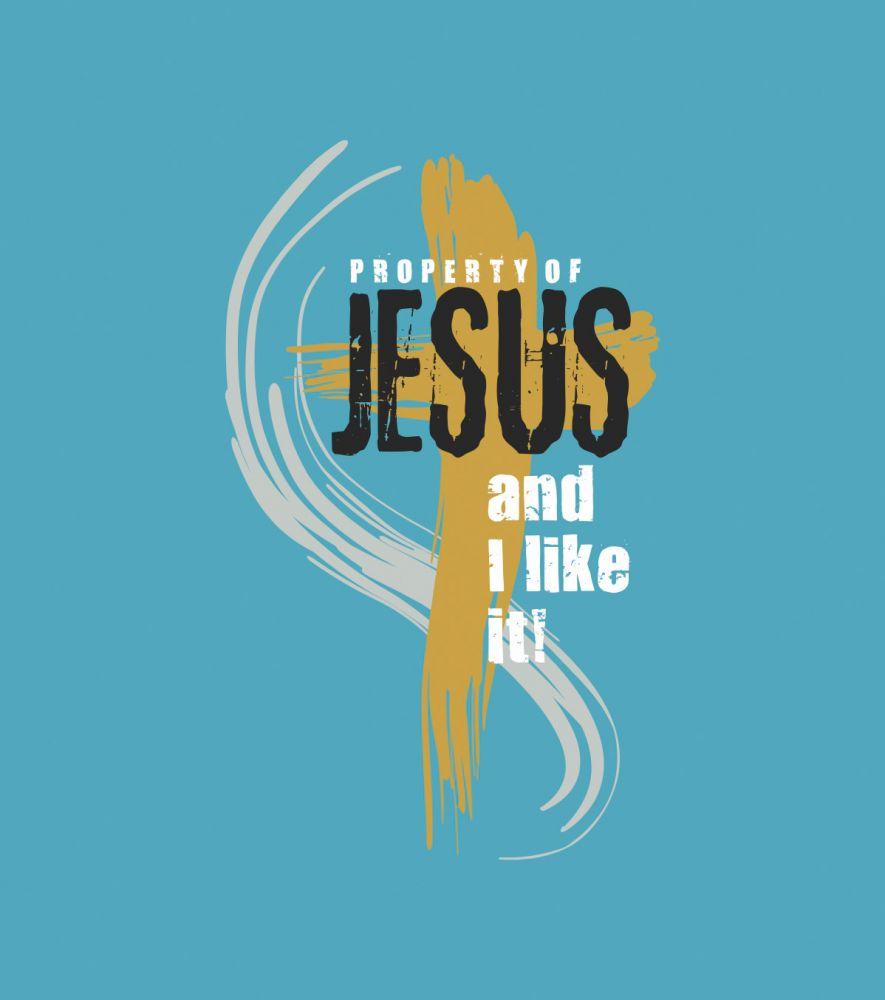 PROPERTY OF JESUS dámské triko tyrkysová