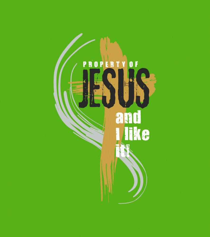 PROPERTY OF JESUS dámské triko zelená tráva