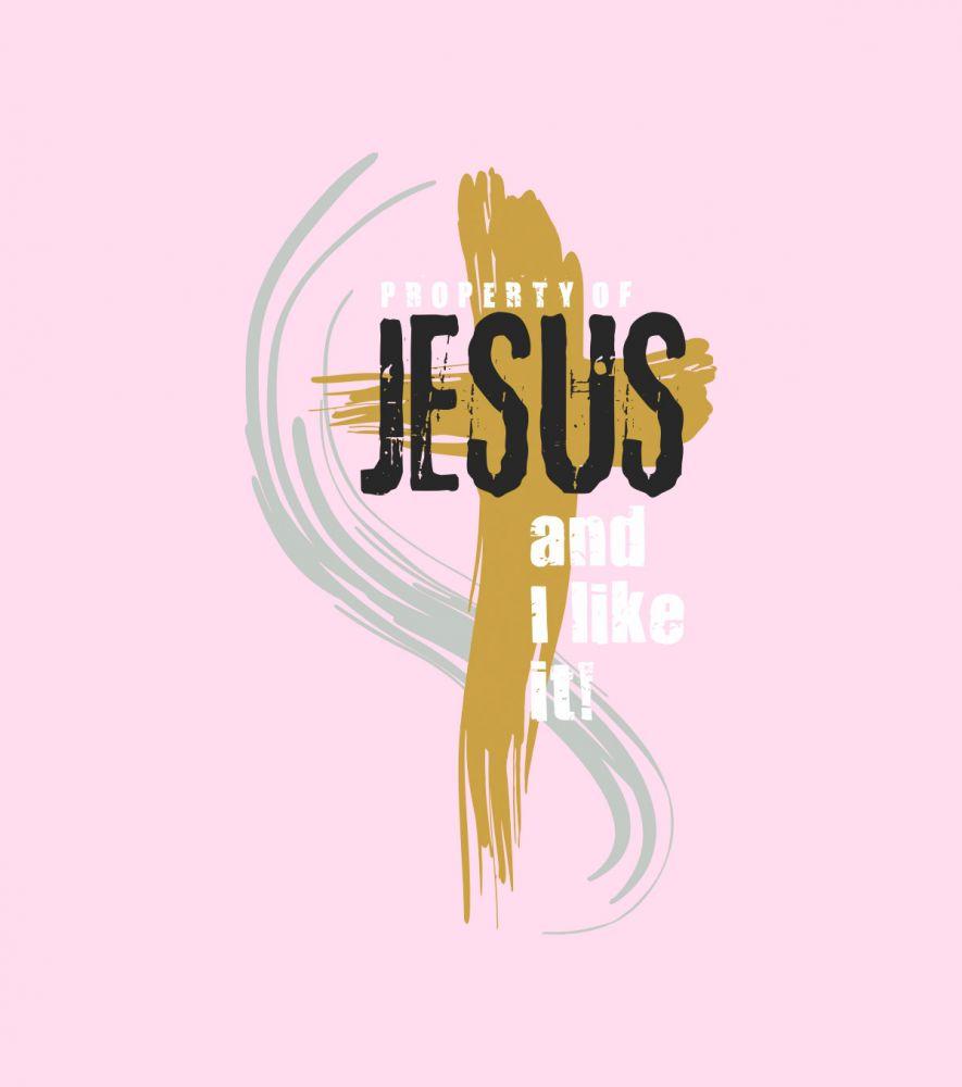 PROPERTY OF JESUS dámské triko růžová (meagan pink)