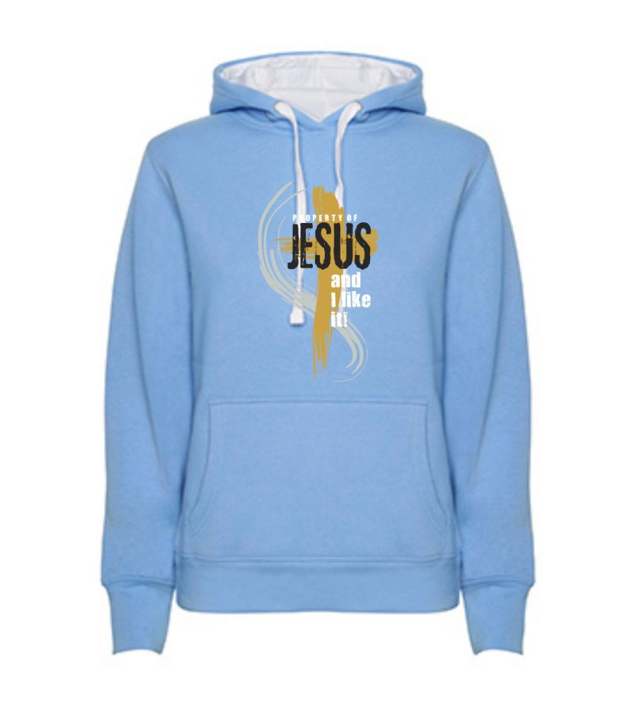 PROPERTY OF JESUS dámská mikina modrá