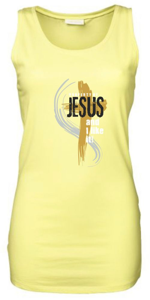 PROPERTY OF JESUS womens sleeveless (yellow)
