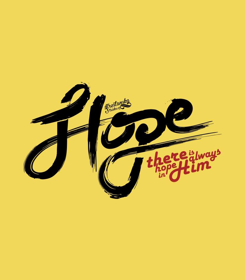 HOPE IN HIM dámské žluté