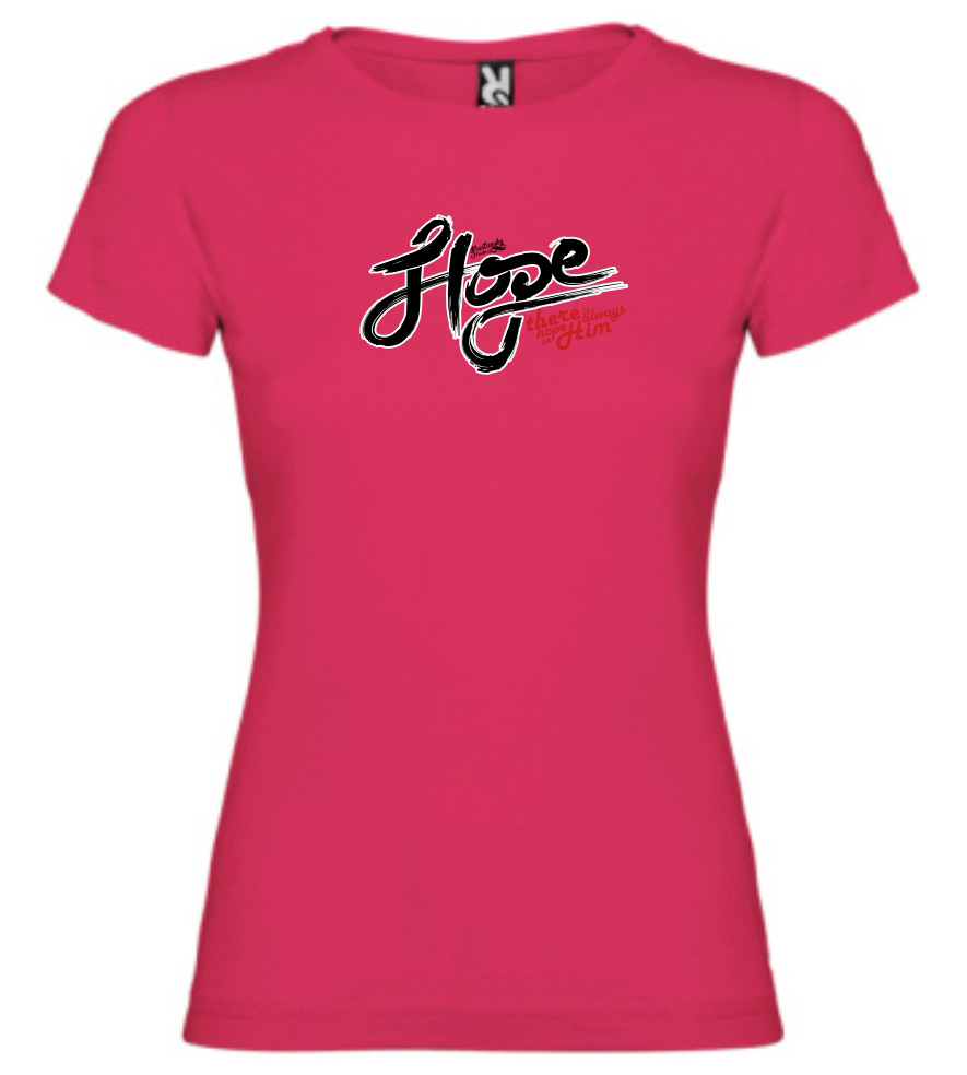 HOPE IN HIM womens (fuschia)