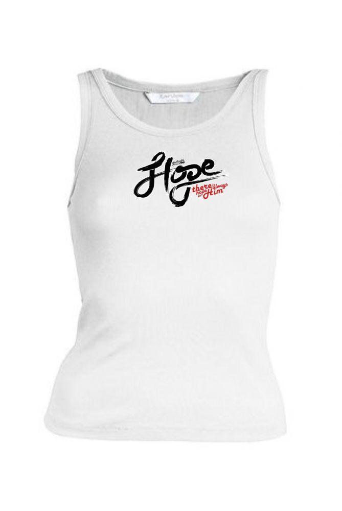HOPE IN HIM womens sleeveless (white)