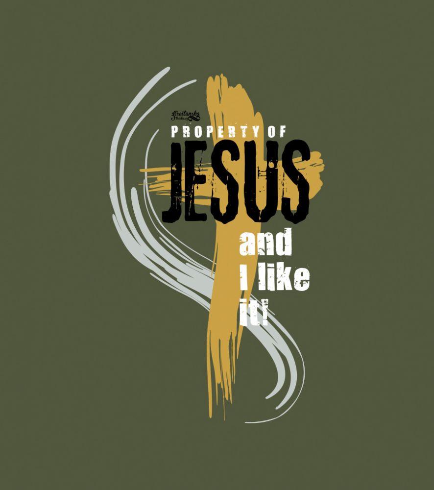 PROPERTY OF JESUS (longsleeve khaki)