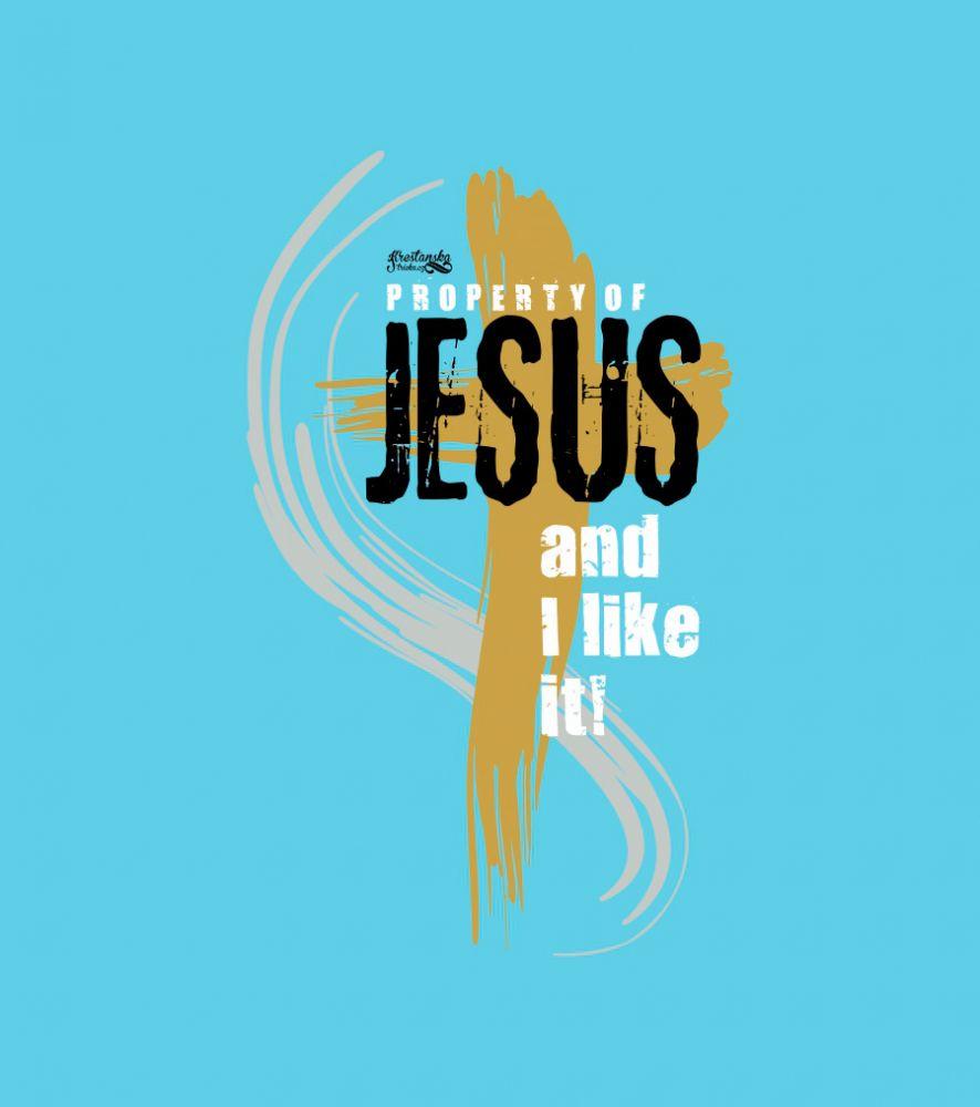 PROPERTY OF JESUS dámské triko světle modré
