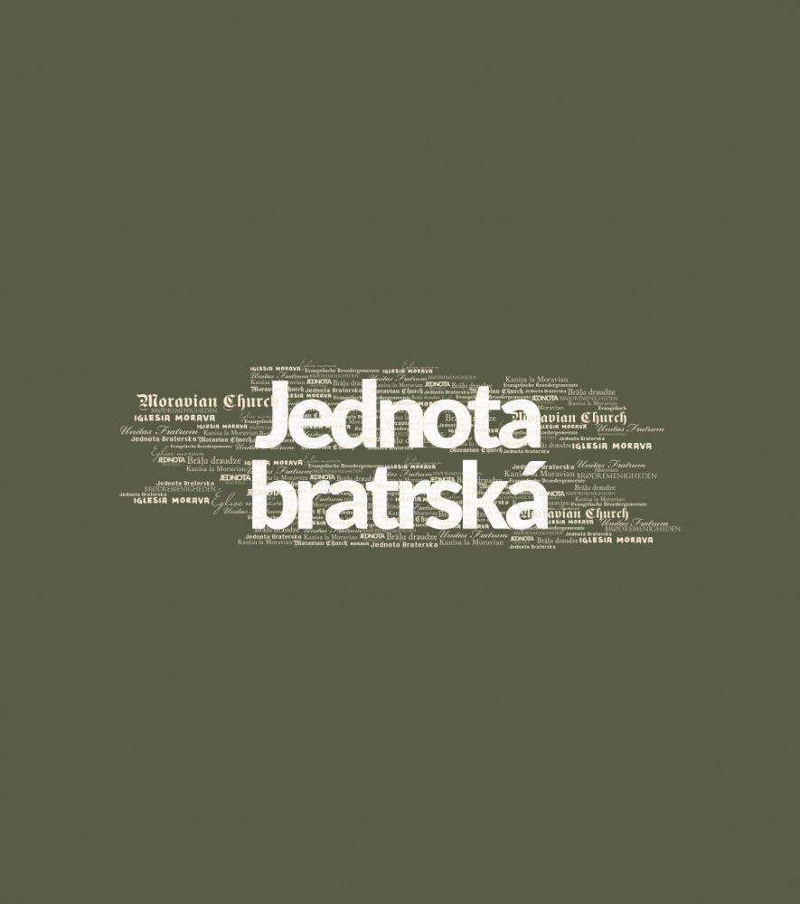 JEDNOTA BRATRSKÁ pánské triko DLOUHÝ RUKÁV khaki
