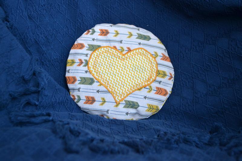 Nahřívací pohankový polštářek žlutý