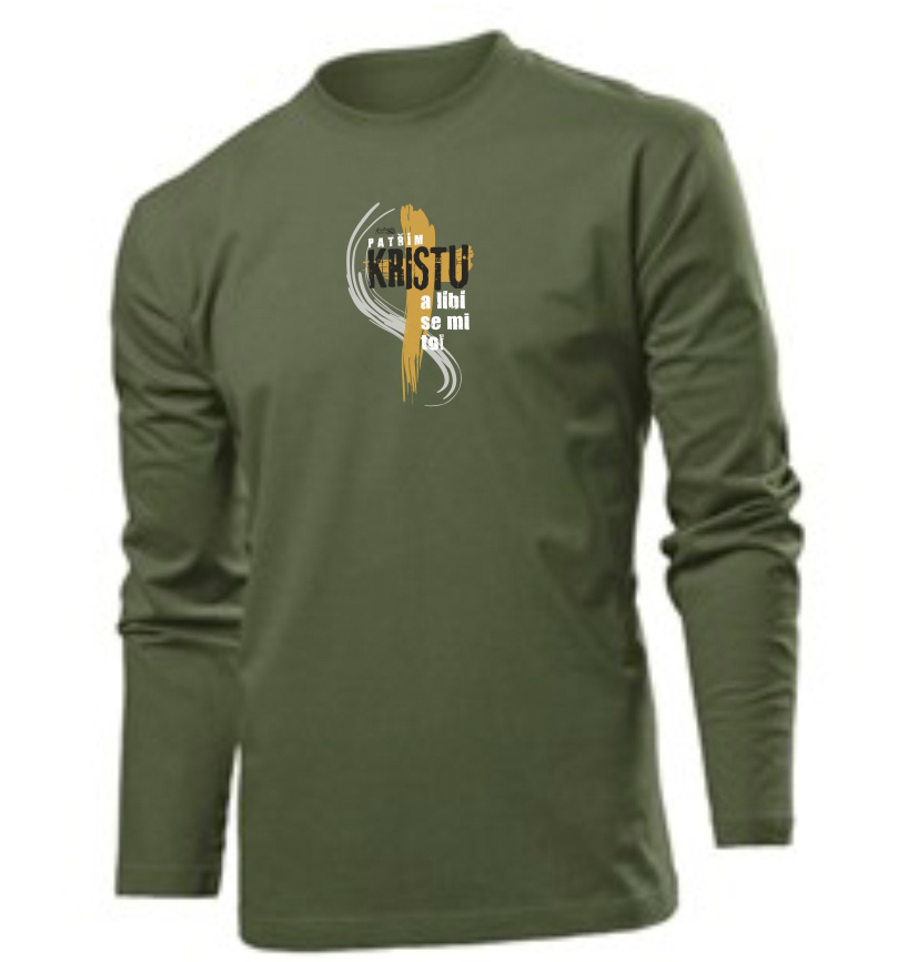 I BELONG TO CHRIST CZ (long sleeve khaki)
