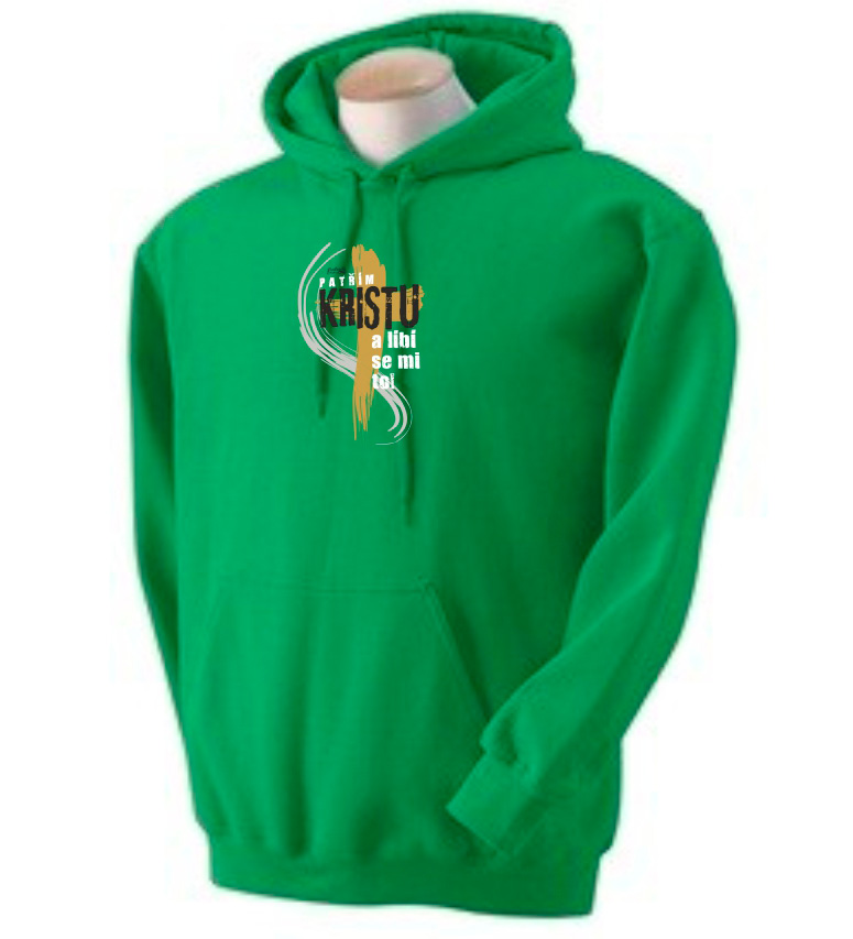 I BELONG TO CHRIST CZ mens hoodie (kelly green)