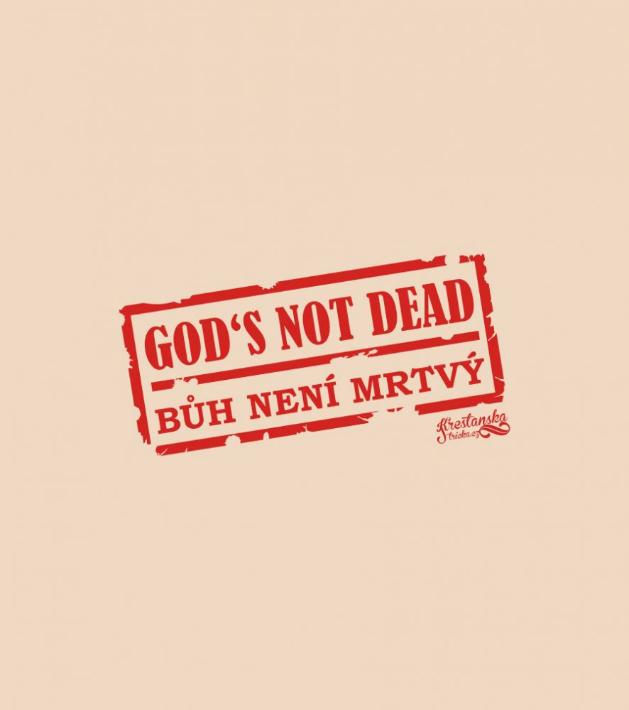 GOD'S NOT DEAD mens sweatshirt (sand)