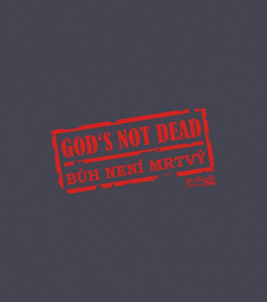 GOD'S NOT DEAD MIKINA PÁNSKÁ ŠEDÁ ŽÍHANÁ