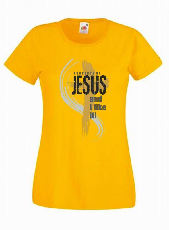 PROPERTY OF JESUS dámské triko žluté (sunflower)