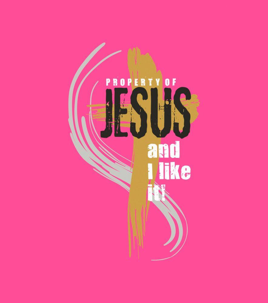PROPERTY OF JESUS (maroon)