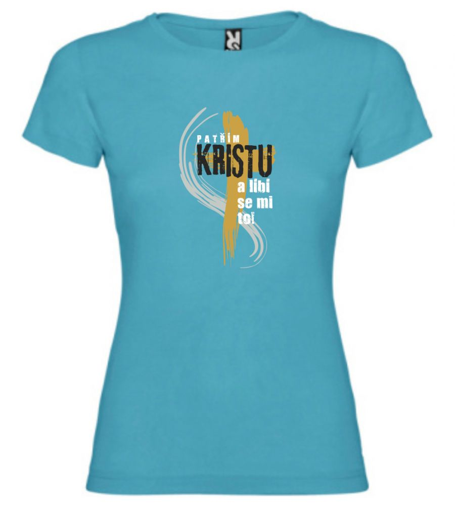 I BELONG TO CHRIST CZ womens (turquoise)