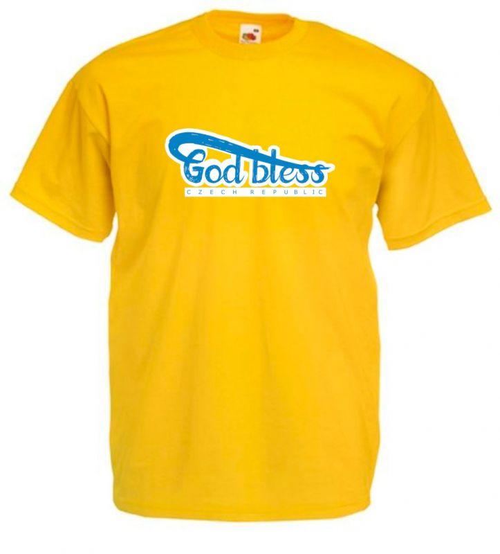 GOD BLESS CR pánské triko žluté (sunflower)