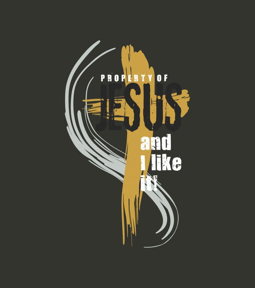 PROPERTY OF JESUS (anthracite grey)