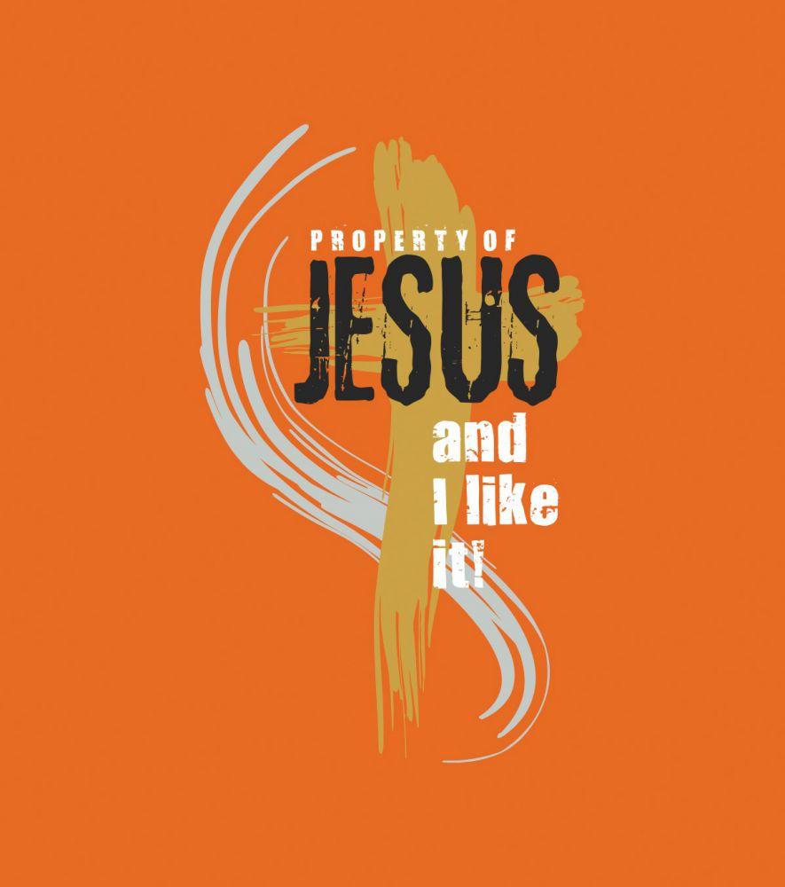 PROPERTY OF JESUS womens (orange)