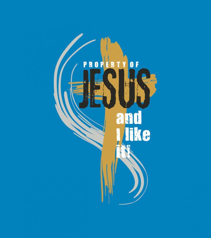 PROPERTY OF JESUS womens (navy)