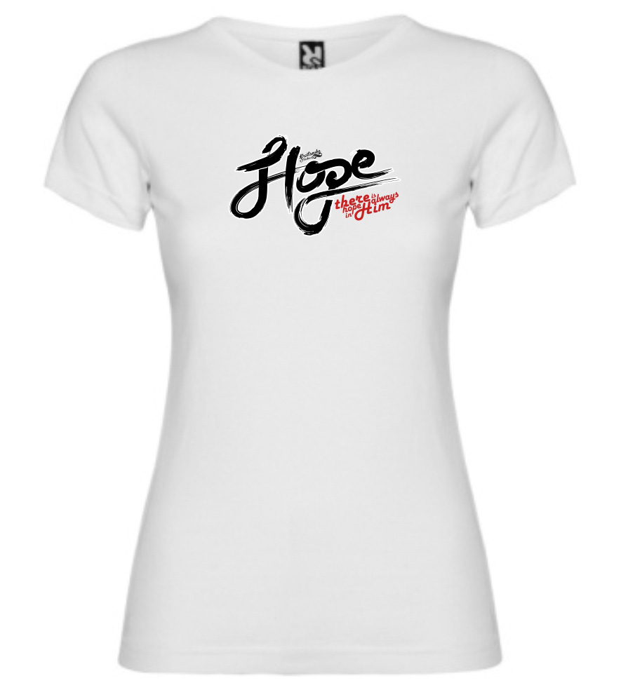 HOPE IN HIM womens (white)