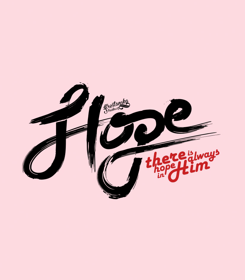HOPE IN HIM womens (light pink)