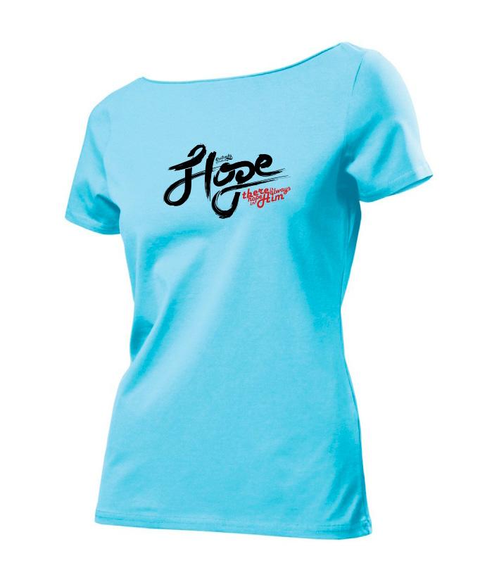 HOPE IN HIM womens (sky blue)