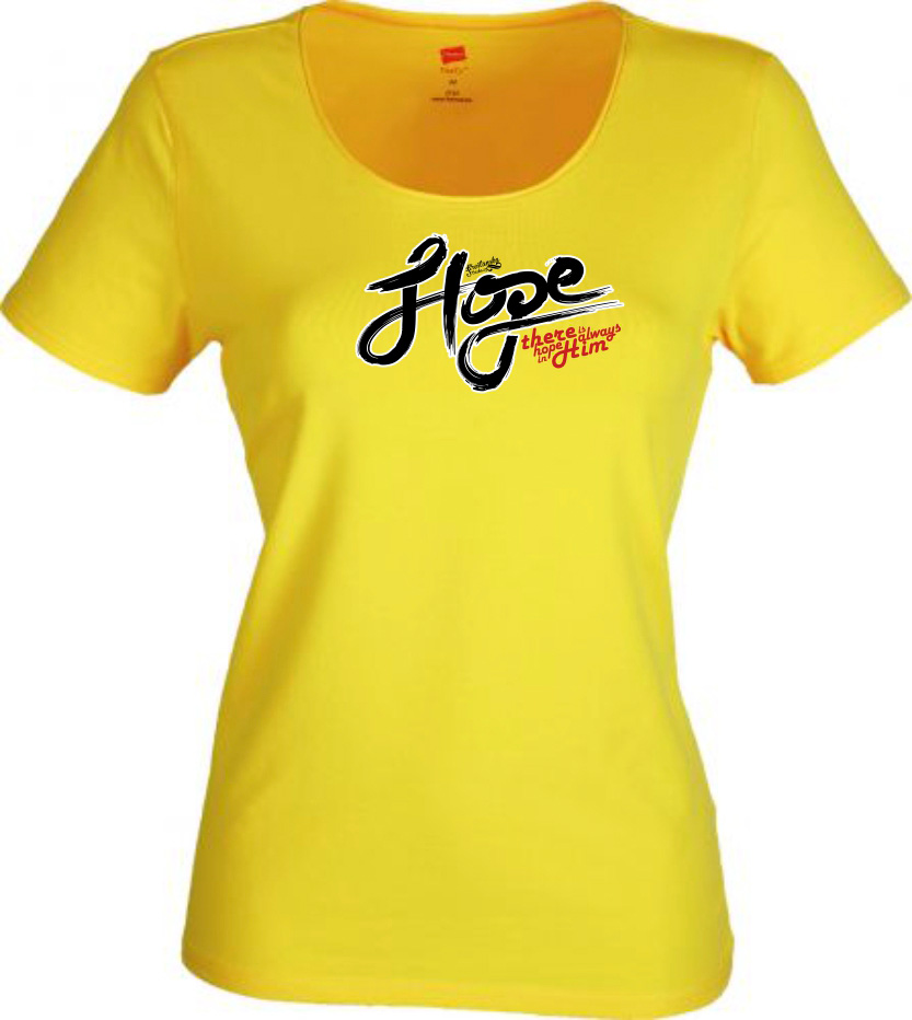 HOPE IN HIM womens (yellow)