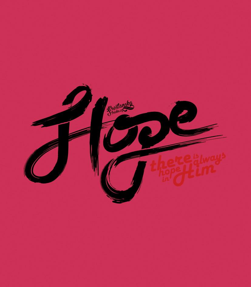 HOPE IN HIM womens (fuschia)