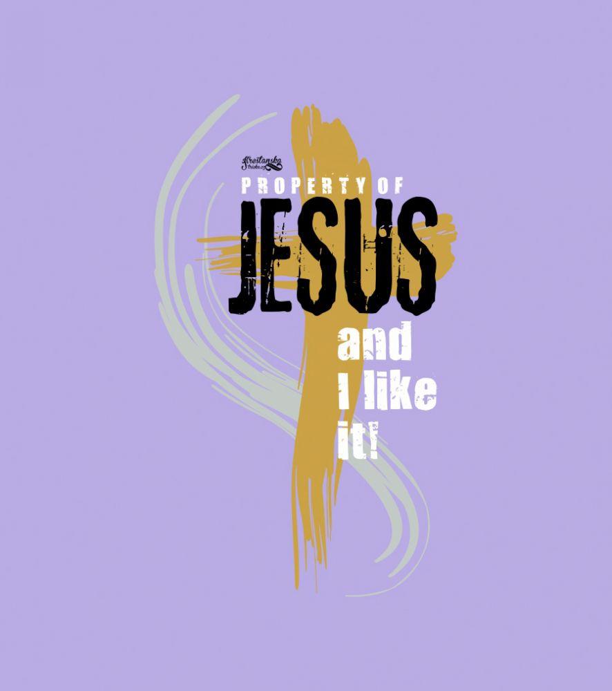 PROPERTY OF JESUS womens sleeveless (violet)