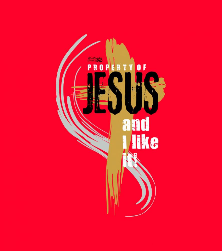 PROPERTY OF JESUS kids (red)