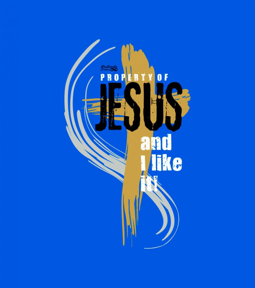 PROPERTY OF JESUS kids (royal blue)