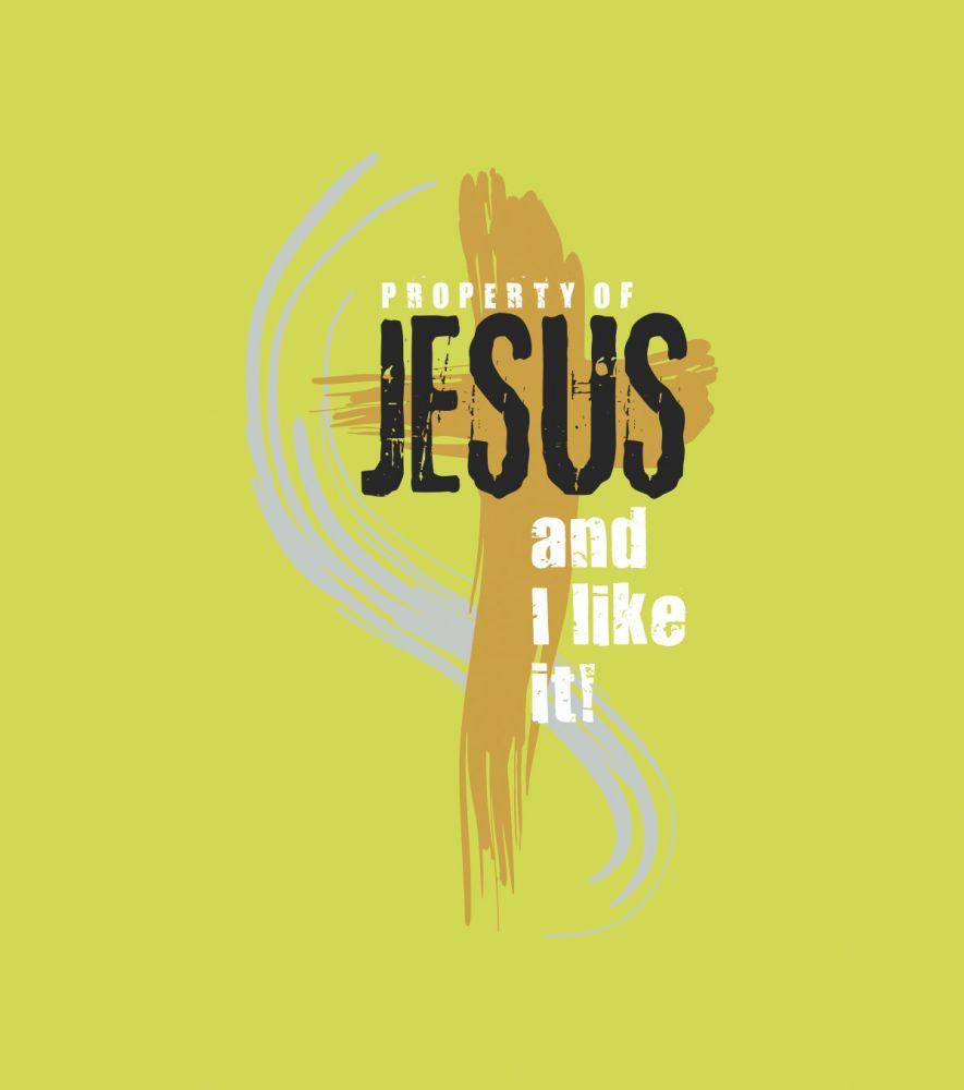 PROPERTY OF JESUS mens hoodie (pistacia)
