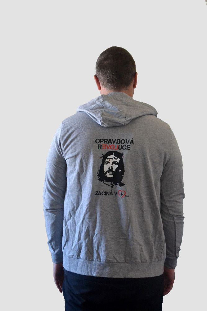 HOPE mens hoodie zipper (heather grey)