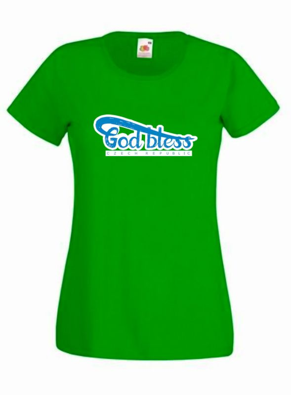 GOD BLESS CR womens (kelly green)