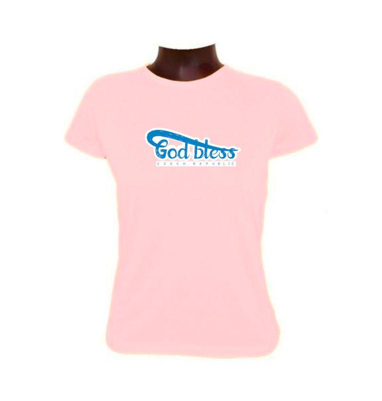 GOD BLESS CR dámské triko světle růžové (pink)
