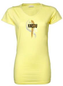 I BELONG TO CHRIST CZ womens (yellow)
